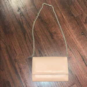 Pretty Little Thing nude clutch